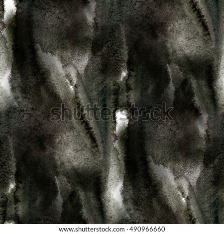 paint watercolor seamless water texture black with spots and streaks color