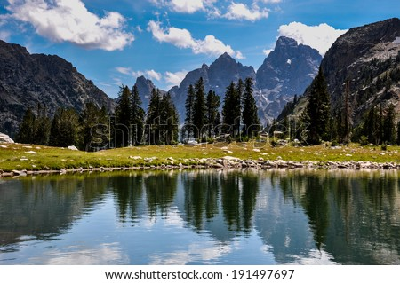 Paintbrush Canyon Trail in Grand Tetons National Park, Wyoming,
