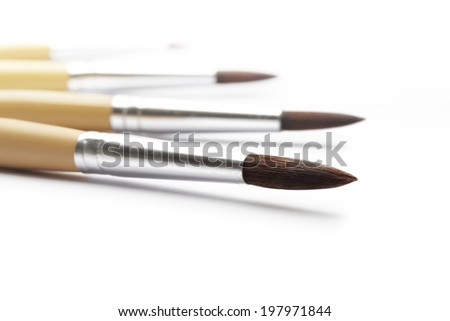 paintbrush for painter isolated on white background - stock photo