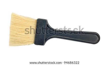 Paintbrush isolated on a white background