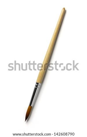 Paintbrush  isolated on white background - stock photo