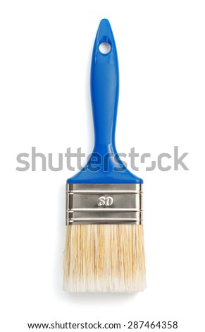 paintbrush isolated on white background - stock photo