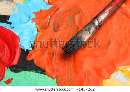 paintbrush on an artists palette