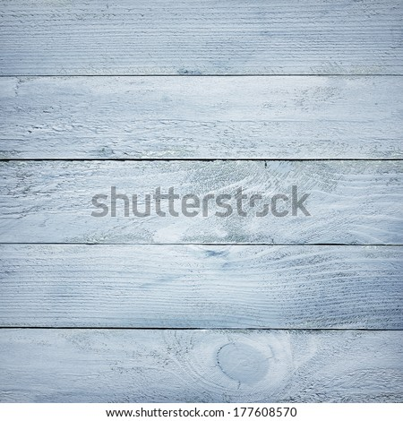 painted blue wooden planks texture - stock photo