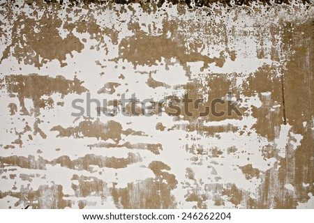 Painted cement wall. Concrete textured pattern with ckratches and spots. - stock photo