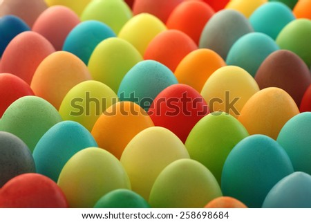 Painted Easter eggs background - stock photo