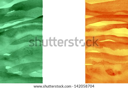 Painted flag of Ireland