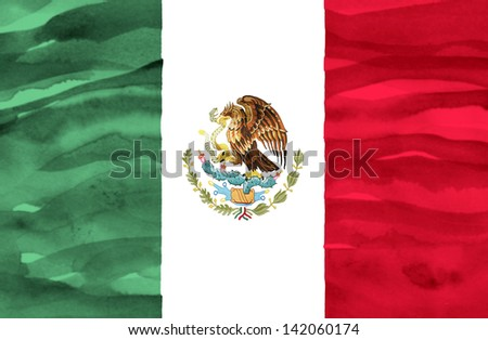 Painted flag of Mexico