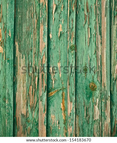 painted  green boards. background close up - stock photo