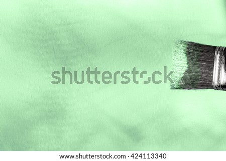 painted green canvas for text - stock photo