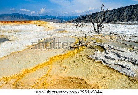 Painted Grounds at Yellow Stone National Park - stock photo