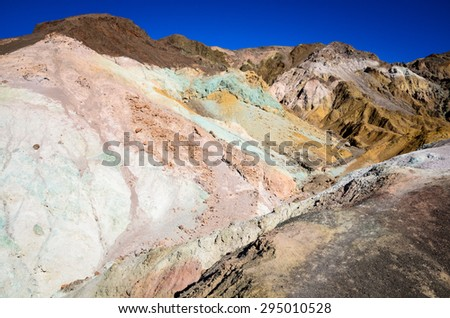 Painted Hills at Death Valley - stock photo