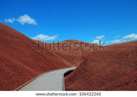Painted Hills Path 1 - stock photo