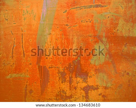 painted metal surface - stock photo