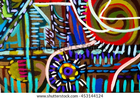 painted oil painting has a transport scheme city space, fantasy, abstraction