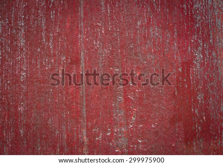 painted old wooden wall in chinese temple. red background