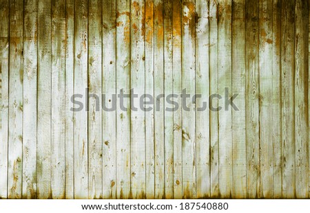 painted old wooden wall. yellow background - stock photo