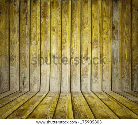 painted old wooden wall. yellow room
