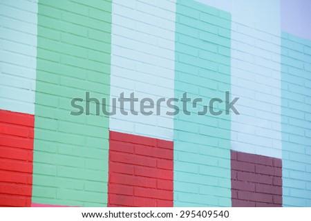 Painted pattern wall - stock photo