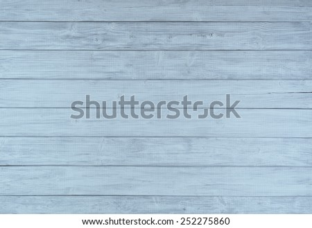 Painted Plain Baby Blue and Gray Rustic Wood Board Background. Can be horizontal or vertical. Blank Room or Space area for copy, text,  your words, above looking down view. Tinted, pastel photo. - stock photo