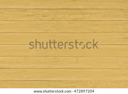 Painted Plain Dark Golden Yellow Rustic Wood Board Background that can be either horizontal or vertical with Blank Room or Space area for copy, text, your words with above, looking down view