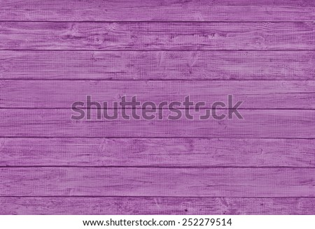 Painted Plain Magenta Purple Rustic Wood Board Background that can be either horizontal or vertical. Blank Room or Space area for copy, text,  your words, above looking down view. Tinted photo. - stock photo