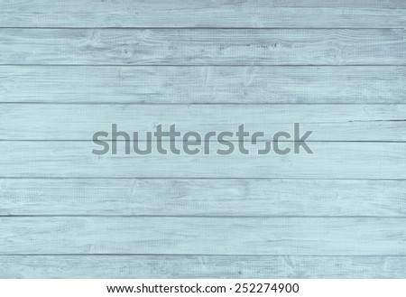Painted Plain Teal  Blue and Gray Rustic Wood Board Background that can be either horizontal or vertical. Blank Room or Space area  for copy, text,  your words, above looking down view. Tinted photo. - stock photo