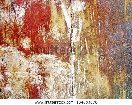 painted rusty metal surface - stock photo