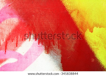 Painted walls, painted old bright coloured paint - stock photo