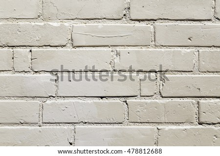 Painted White Exterior Brick Wall