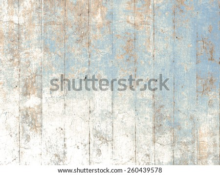 Painted wood background blue - stock photo
