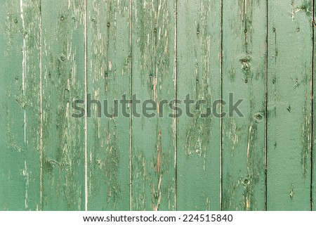 Painted wood green old aged texture - stock photo