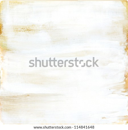 Painted wood White distress surface texture - stock photo