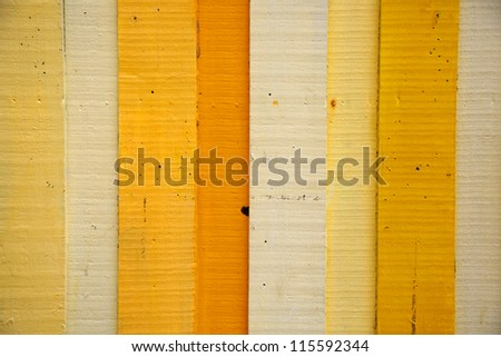 Painted Yellow Wood Background - stock photo