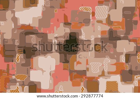 painting abstract background in pink black and brown