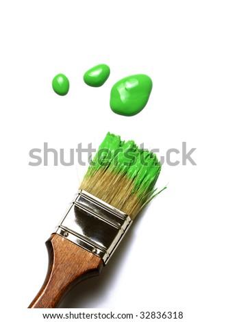painting brush - stock photo