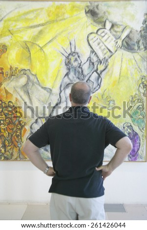 Painting by Marc Chagall, Marc Chagall Museum, Nice, France - stock photo