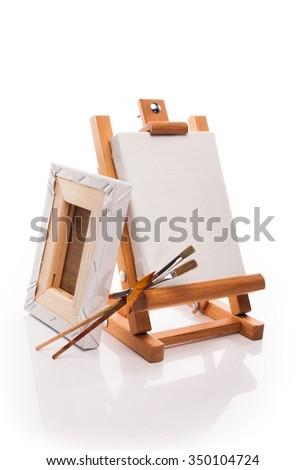 painting canvas  composition with white background