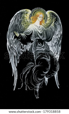 Painting Collection: Angel - stock photo
