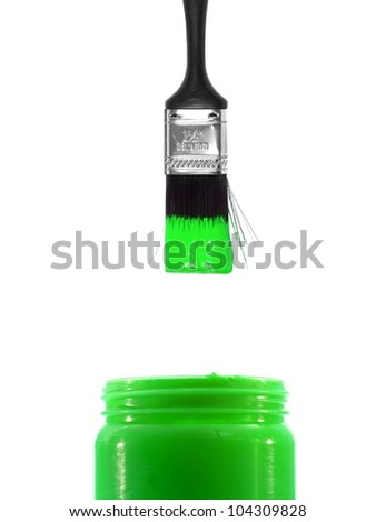 Painting equipment isolated on a white background - stock photo