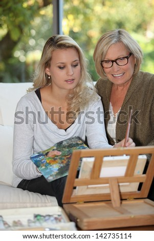 Painting is my new hobby. - stock photo