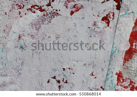 Painting knife technique with acrylic on canvas. Abstract art background. Wall texture.