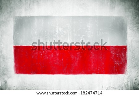 Painting Of The National Flag Of Poland - stock photo