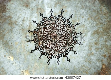 Painting Pattern, painted in 1506, Istanbul. - stock photo