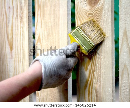 Painting (showing action with motion blur) - stock photo