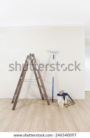 Wall Painting Supplies home painting supplies stock images, royalty-free images & vectors