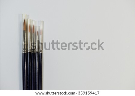 painting tools spatulas and brushes