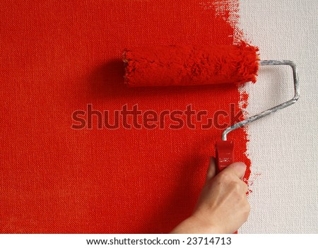 painting wall - stock photo