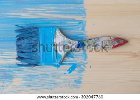 painting wood - stock photo