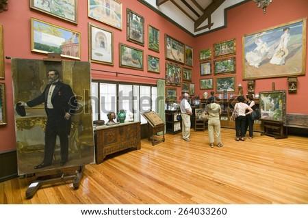 Paintings by Joaqu�¢??n Sorolla y Bastida (1863-1923) as seen in The Sorolla Museum, Madrid, Spain - stock photo